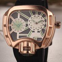 Men's analog time - Luxury Men Watch Black Waterproof Fashion Casual Military Quartz Hot Brand Honmin Sports Watches Wristwatch Multiple Time Zones