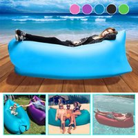 Wholesale Fast Inflatable Air Sleeping Bag Waterproof Lazy Sofa Bed Festival Mulitsport Camping Hiking Travel Hangout Beach Bag Bed Camping Bana Couch
