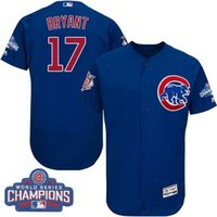 Wholesale 2017 Cubs Kris Bryant White Flexbase Elite Collection World Series Champions Stitched Baseball Jerseys Free Drop Shipping