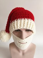 Wholesale In demand new hand knitted hat Christmas hat big beard hat