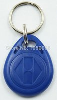 Wholesale bag RFID key fobs KHz proximity ABS key tags for access control Writable Readable keychain keyfobs T5577 T5557 chip
