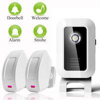 Compra Sensor-Dispositivo de bienvenida Tienda Tienda Inicio Bienvenida Chime Inalámbrico Infrarrojos IR <b>Sensor</b> de Movimiento Timbre de puerta Alarma Entrada Timbre Alcance 150m