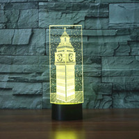 acrylic desk accessories - Big Ben D Desk Lamp Gift Acrylic Night light LED lighting Furniture Decorative colorful color change household Home Accessories