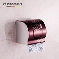 bathroom tissue brands - Toilet Tissue Box with Roller Stainless Steel Paper Holders Wall Mounte Brand Bathroom Accessories Bath Hardware Cavoli P2064R