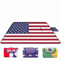 Waterproof Mat aluminum car mat - Waterproof Foldable Camping Picnic Mat Flag World Map Camouflage Pattern Outing Picnic Blanket Moisture proof Beach Pad Aluminum Bottom