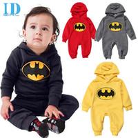 bebe men - IDGIRL Cotton Baby Boy Clothes Spring Long Sleeve Baby Hooded Romper Bebe Bat Man Jumpsuit Toddler Clothes JY0235