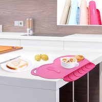 Wholesale Food Grade Baby Silicone Suction Place Mat Food Mat Dining Table Placemats Waterproof baby Dinner Plates Christmas KKA1037