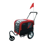 bicycle dog trailer - two usage function small foldable bicycle pet trailer dog trailer pet product used as pet stroller and connect to bike as bike trailer