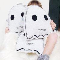 2-4 Years best decorative pillows - Night Luminous Stuffed Toys Kawaii Cute Ghost Pillows Toy For Baby Bed Room Decorative kids Best Gift Ins Hot High Quality