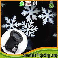 ac white moving - 2016 Christmas Moving Sparkling LED Snowflake Landscape Laser Projector Wall Lamp Xmas Light White Snow Sparkling Landscape Projector Lights