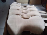 Wholesale Unfinshed Flamed Maple Flamed Wood Back White Violin Europen Wood Spruce Top Wood
