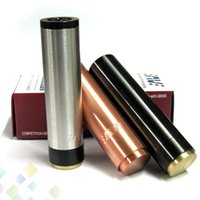 fit 18650 battery best red tube - Best Manhattan Mod Clone SS Red Copper Black Manhattan Full Machanical Mod for Electronic Cigarette Battery Tube DHL Free