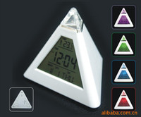 asia digital - Colorful Pyramid triangle alarm colorful calendar calendar clock