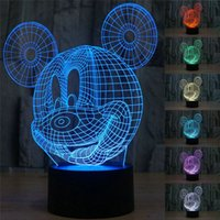 Yes best mice - 3D Table Lamp Creative Acrylic Mickey Mouse LED Night Light Colorful Atmosphere Table Lamp with USB Cable Best Gift for Children