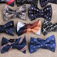 Wholesale High Quality Mens Bowtie Pre tied Adjustable Neckwear Wedding bow tie Bow Ties Paisley Neck Bow Tie Stripes Plaid Dots Ties
