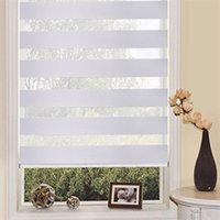 Wholesale sun shading blackout dual layer zebra blinds