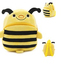 bee bag - Cute Children Small Bee Bags School Preschool Baby Bags Boys and Girls Early Education School Bag Plush Doll Kids Backpack