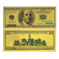 Wholesale New Arts Gifts K Gold Foil Banknote USA Dollars Commemorative Collections Banknote Unique Fashion Paper Money Home Decoration