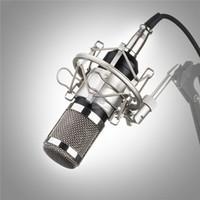 audio condenser - Professional BM BM800 Condenser KTV Microphone Cardioid Pro Audio Studio Vocal Recording Mic KTV Karaoke Metal Shock Mount