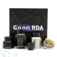 rda - Newest GOON RDA Atomizers With Wide Bore Drip Tip And CHUFF mm PEEK Insulators Colors Fit Mods DHL Free