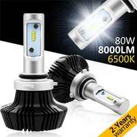 Wholesale 9006 LED Headlight Bulbs Rigidhorse Conversion Kit with Perfect Beam Pattern W LM K Cool White philips LED
