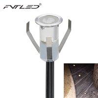 Wholesale W DC12V Stainless Steel LED Waterproof Underground Lamps mm MINI Floor Lamps Energy Saving Step Lightings