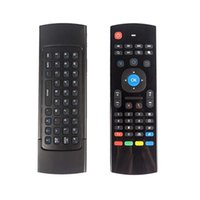 Wholesale Air Fly Mouse MX3 GHz Wireless Keyboard Remote Control Somatosensory IR Learning Axis without Mic for Android TV Box DHL