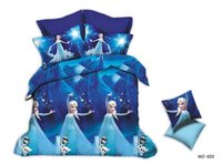 anna quilt - 3D Cinderella Bedding Set Bedding Sets Elsa Anna the cute yellow Minions Bedclothes Quilt Cover Bed Line Set Cartoon Kids