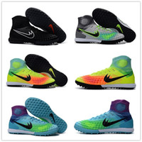 Wholesale Hot Sale New Men Magista obra II TF Soccer Shoes MD high ankle Football Boots ACC Football Soccer Shoes Size