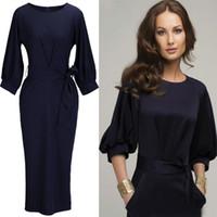 Wholesale SALE ladies office dresses business dress ladies office clothes womens dresses Blended chiffon Work Dresses