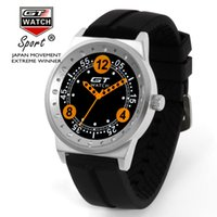auto college - 2016 newest GT WATCH Luxury Brand Auto Racing Sports Miliary Wristwatch Japan Quartz Silicone Strap Pilots Airman College Life Watch
