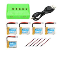 Wholesale 5pcs Original JJRC V mAh C Lipo Battery with in Battery Charger for JJRC H36 RC Quadcopter