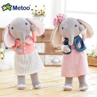 Wholesale Famous Brand Metoo Angela forest lucky elephant cute plush doll couple doll a generation Angela Plush Toy Sweet Gift For Kids