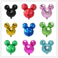 Wholesale New cm pure color solid mickey minnie Mouse Head baby Birthday party Celebrate festival supplies toys Foil Balloon