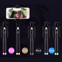 Wholesale Selfie Stick Pocket Monopod Luxury Wired Selfie Handheld Extendable Monopod For iPhone For Samsung Galaxy S7