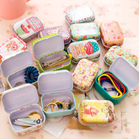 alps packs - Colorful mini tin box Sealed jar packing boxes jewelry candy box small storage boxes cans Coin earrings headphones gift box