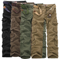 baggy pants cartoons - Fashion Military Cargo Pants Men Loose Baggy Tactical Trousers Oustdoor Casual Cotton Cargo Pants Men Multi Pockets Big size
