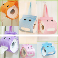 Wholesale Bathroom Cover Roll Box Plush Cloth Tissue Box Holder Toilet Paper bathroom office car restaurant Hanging paper towel tube