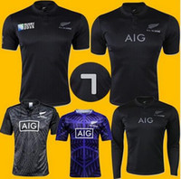Wholesale NEW Zealand RUGBY jersey Top Thailand quality RWC NRL Super RUGBY home and away All blacks Shirts