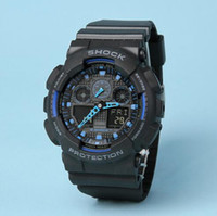 Wholesale All pointer work GA100 Men sports watches LED light watch running hiking digital shock watches Original Box