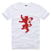 Wholesale 2017 new fashion Game of Thrones House Lannister Printed Mens T Shirt lion Fashionable T shirt Short Sleeve Cotton Tshirt Tee