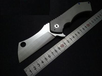 Wholesale AAAAA Folding Knife D2 Blade Titanium Handle Tactical Survival Knife Outdoor Tools