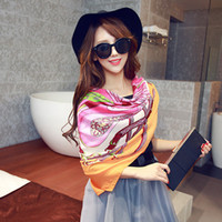 Wholesale Europe brand shawl New twill cotton scarf big squares Totem cashew scarves two use shawls pattern kerchief