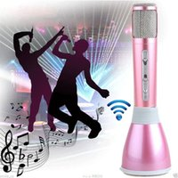 Wholesale K068 Bluetooth Wireless Microphone With Mic Speaker Condenser Handheld Mini Karaoke Player Home Protable KTV Singing Record VS K088 Q7