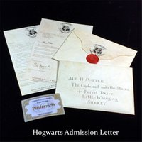 Wholesale Creative Hogwarts Admission Letter Harry Potter Retro Envelope Collection for Harry Potter Fans