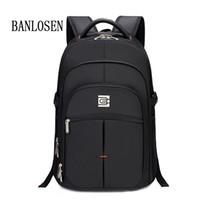 Wholesale Men Laptop Backpack Notebook Back Pack Bag inch Black Backpacks