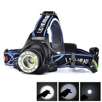 Wholesale New W Lm XM L T6 LED Zoomable Headlight Headlamp Head Torch Flash Light Outdoor Sports Camping Hiking Hunting