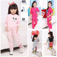 Boy Winter Cotton,Polyester Wholesale- New Fashion Cute Toddler Baby Girls Long Sleeve Sweat suit Pants Outfits Set Sport wear Tracksuit Hot Sale Children Sets