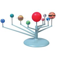 Wholesale Free DHL Hot Sell DIY The Solar System Nine planets Planetarium Model Kit Science Astronomy Project Early Education For Children