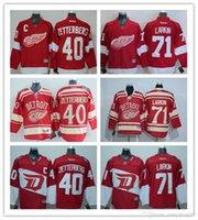 Wholesale Stitched Men s Detroit Red Wings Ice Jersey Henrik Zetterberg Dylan Larkin Red Premier Hockey Jerseys Mix Order